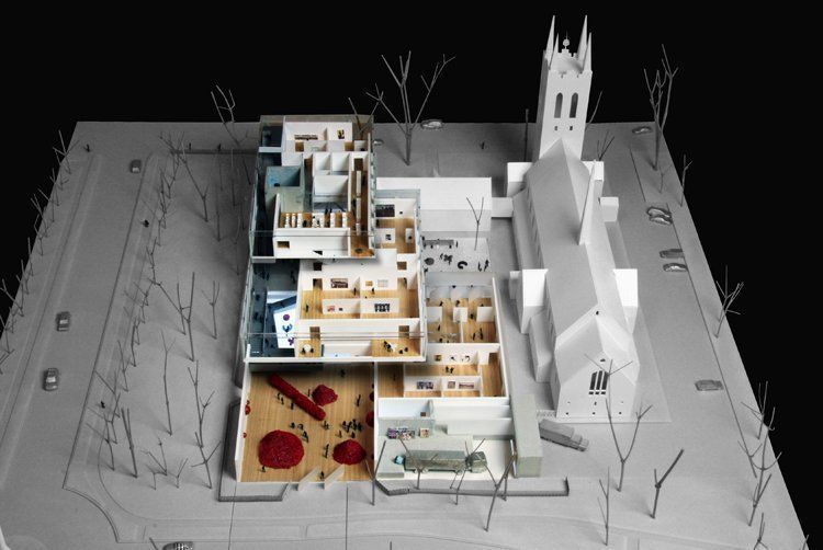 Model overview - Image courtesy of the Office for Metropolitan Architecture (OMA)