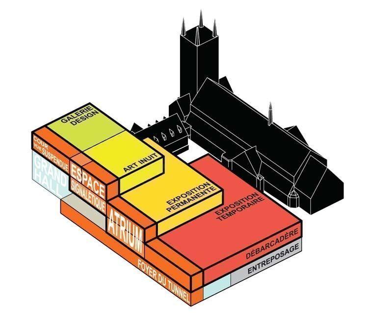 Programmatic axo - Image courtesy of the Office for Metropolitan  Architecture (OMA)