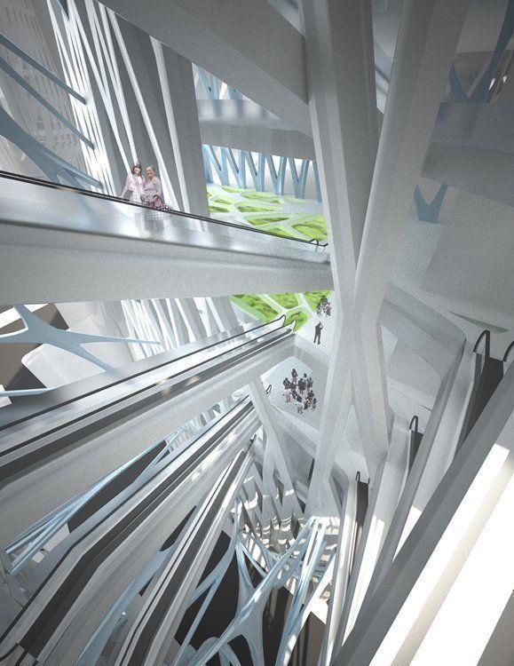 Bio-Filtration atria - looking down