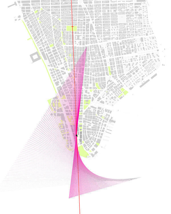 Sight Plan - degrees of rotation between Edgar Street and 5th Ave.  to the north