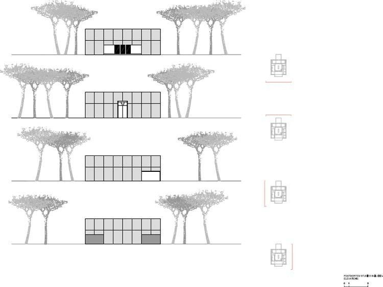 PostMortem Studies Building - Elevaciones