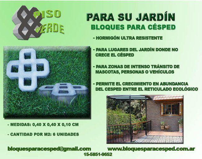 Bloques para c sped piso verde arqa empresas for Bordillos de hormigon para jardin