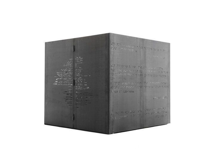 hair / make up cube # 02, 2009, 250x250x250 cm, micro-perforated steel