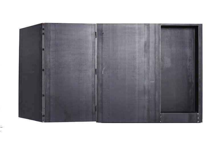 styling cube # 01, 2009, 250x250x250/500 cm, steel