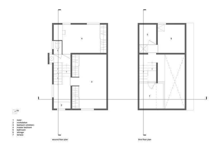 2nd & 3rd Floor plans