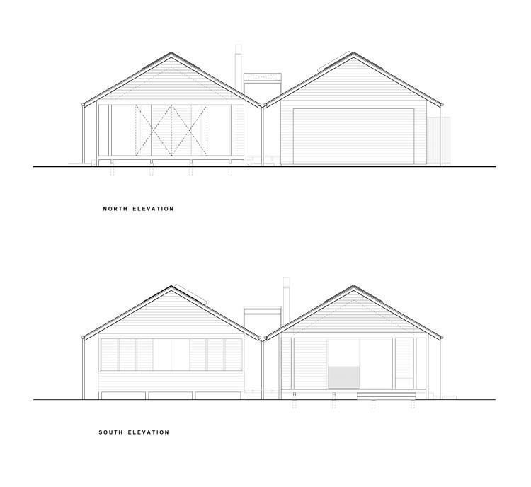 North and South elevation