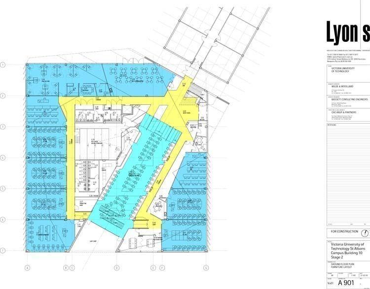 Ground floor plan. Furniture layout