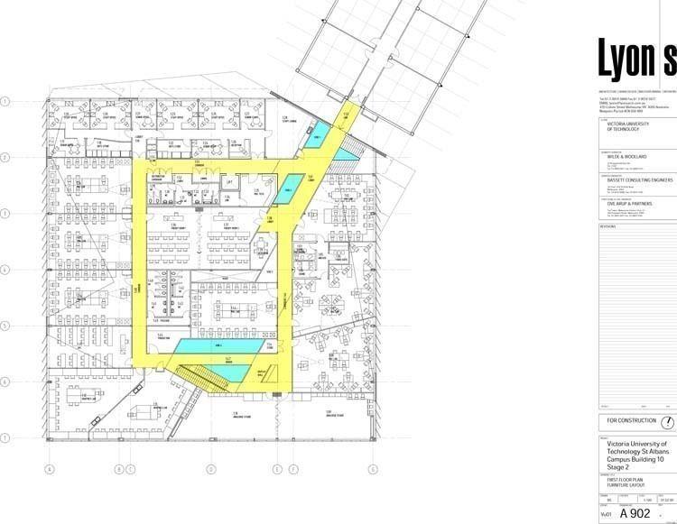 First floor plan. Furniture layout