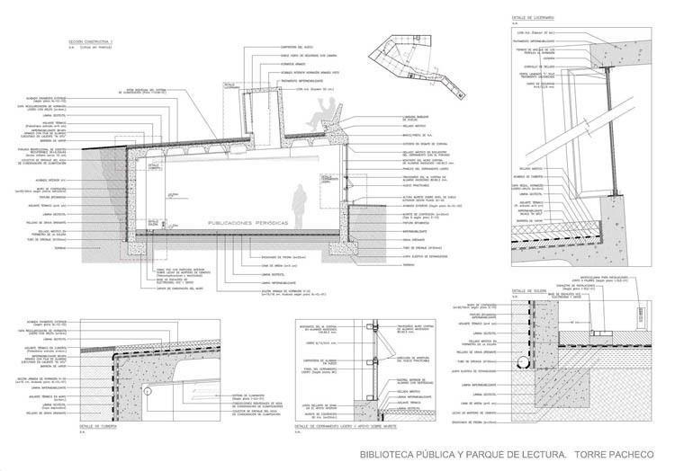 Biblioteca - Secciones Constructivas