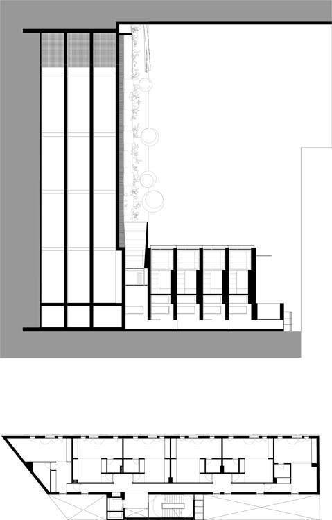 Edificio B, sección