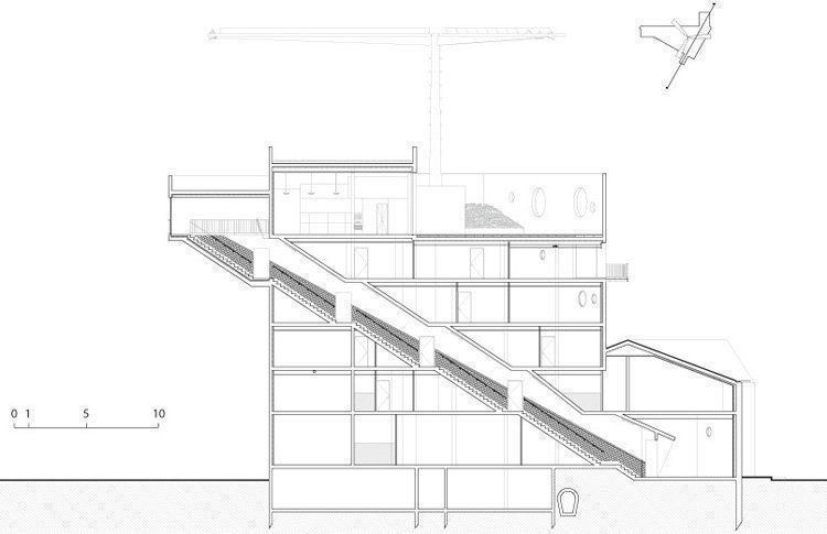 Grand stair Section