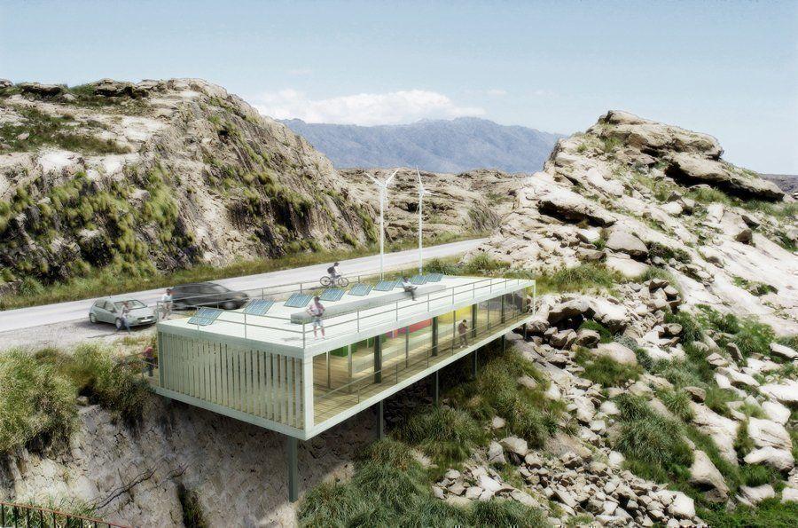 Medidas Baño Publico:Baños públicos en ruta, Mención – ARQA