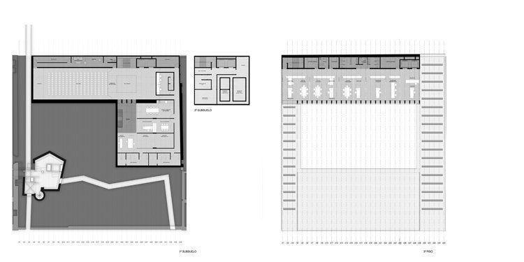 Planta 1er y 2do subsuelo + 3er piso