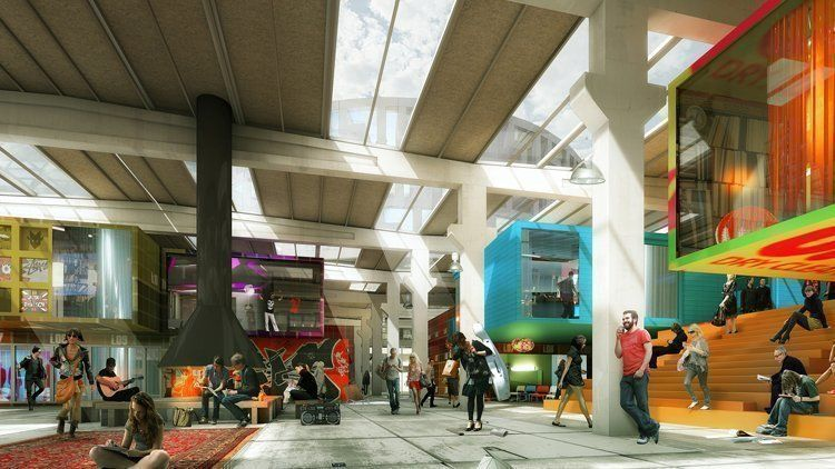 The interior of the existing halls will be transformed