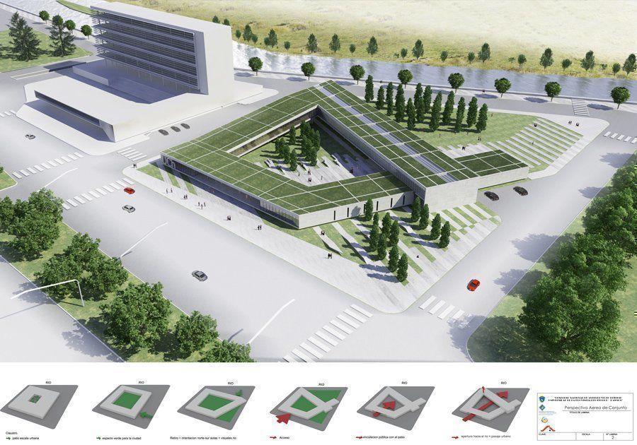 Concurso universidad del chubut participante arqa for Universidades para arquitectura