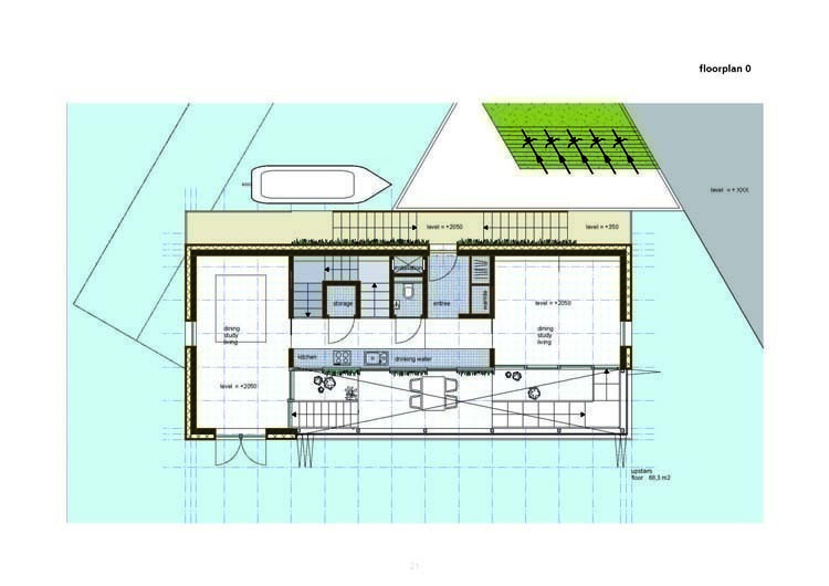 Arqa sustainable floating house for Floating home floor plans