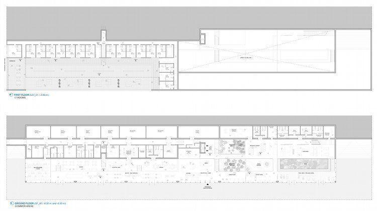 Plan ground floor & 1