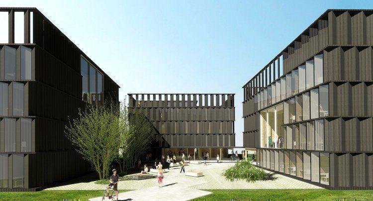Residencia de estudiantes en el campus de la universidad for Residencia para estudiantes