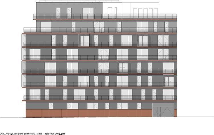 Arqa 70 Sud Apartment Building In Boulogne Billancourt France