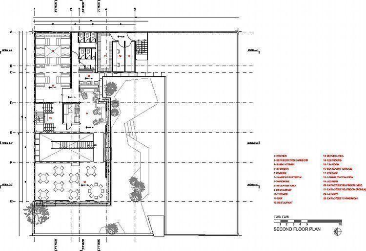 Arqa restaurante tori tori m xico d f for Programa arquitectonico restaurante