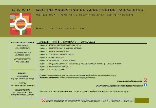 Boletín CAAP 2012, Nº 9