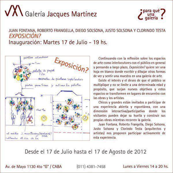Exposición? en Galería Jacques Martínez