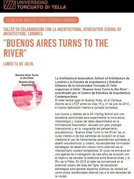 Buenos Aires turns to the River Taller