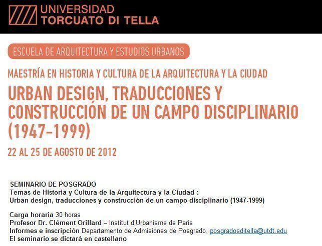 Urban design, traducciones y construcción de un campo disciplinario