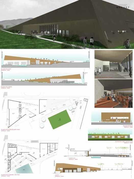 Concurso Anteproyecto Arquitectónico Sede Campo Club Tacna, 2do. Premio