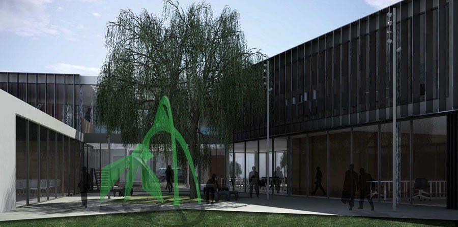 Concurso Anteproyectos Nuevos Edificio de la Sede Cabecera del Distrito IV del Colegio de Arquitectos de la Provincia de Buenos Aires, 1er. Premio