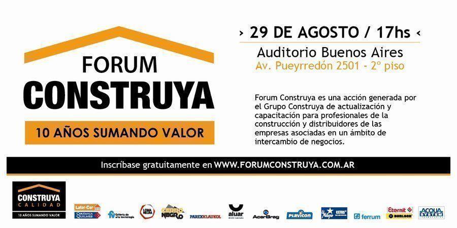 Forum Construya 2012, 10 años