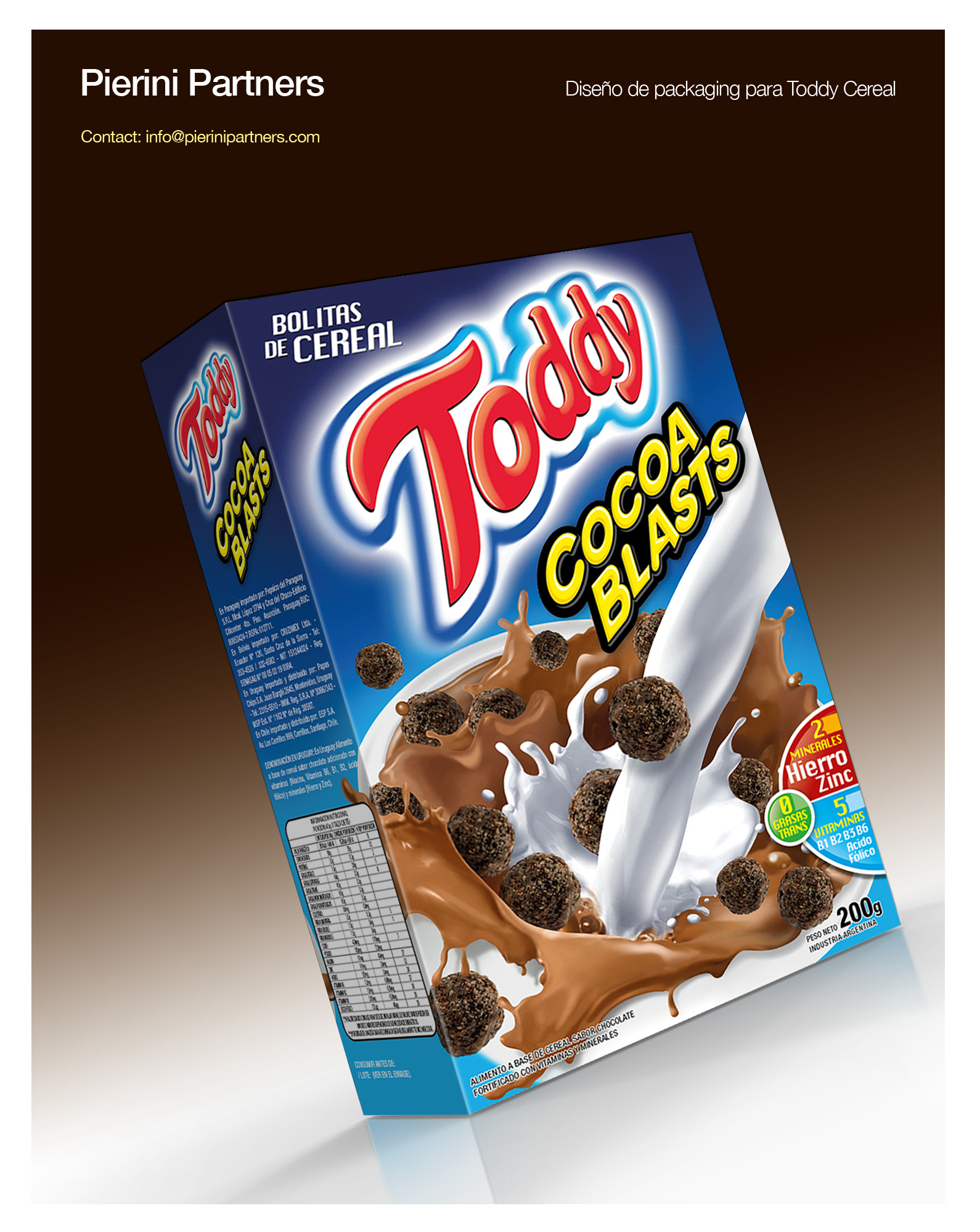 toddy cereal por pierini partners