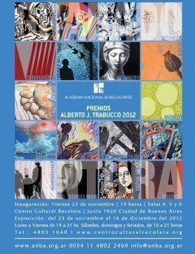 """ARQA, Exposiciones: """"Premios Alberto J. Trabucco"""", en el Centro Cultural Recoleta"""