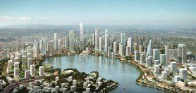 ARQA - Projects, KPF - Designed Meixi Lake master plan being realized, in China