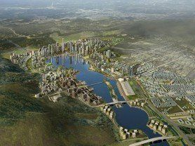 ARQA -Projects, KPF - Designed Meixi Lake master plan being realized, in China