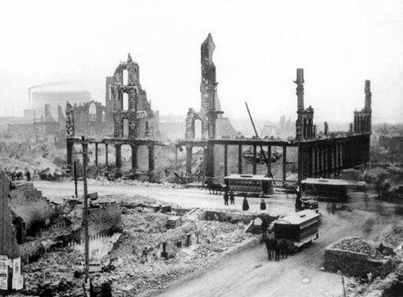 La Ciudad de Chicago, tras el Gran Incendio de 1871.