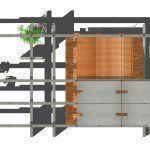 ARQA - Espacio de Hormigon madera y vidrio en Quito, Ecuador