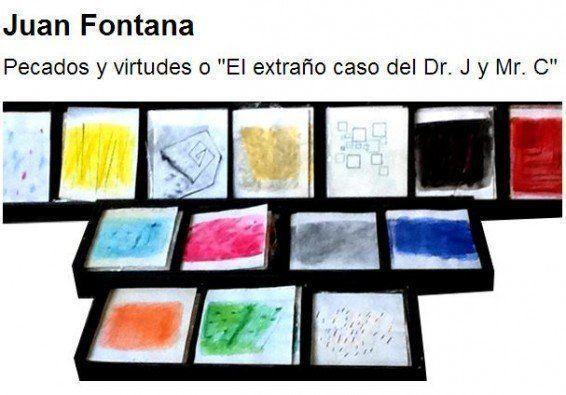 """Exposición: """"Pecados y virtudes o El extraño caso del Dr. J y Mr. C"""" de Juan Fontana"""