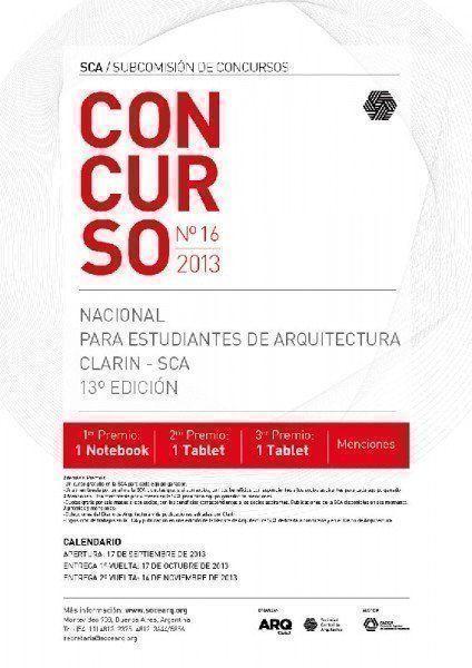 ARQA - Concurso Clarín-SCA para estudiantes de Arquitectura 2013