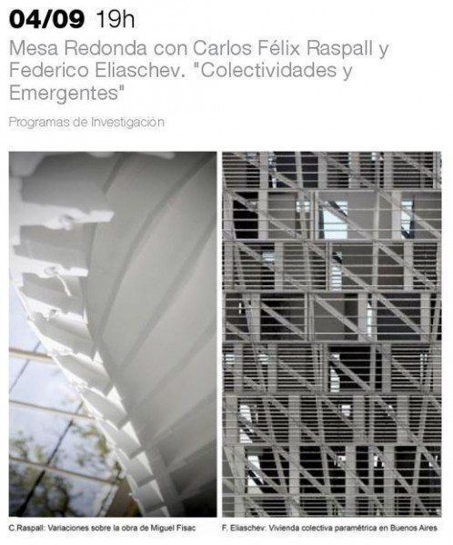"""ARQA - Mesa Redonda: """"Colectividades y Emergentes"""" con Carlos Félix Raspall y Federico Eliaschev, en la UTDT"""
