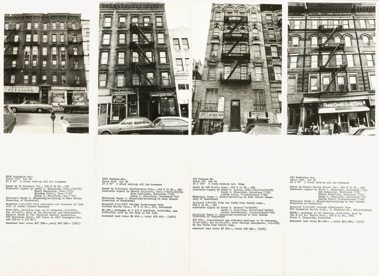 Shapolsky et al Manhattan Real Estate Holdings, A Real-Time Social System as of May 1, 1971. Hans Haacke (1)