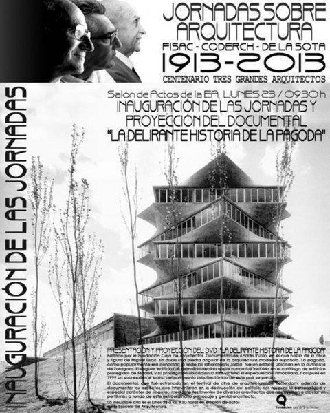 """ARQA - Proyección arquia/documental 28: """"Miguel Fisac. La delirante historia de la Pagoda"""""""