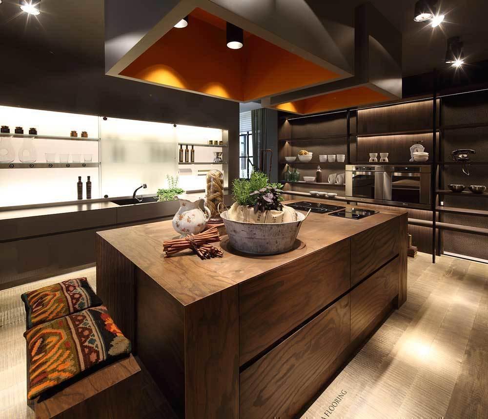 Espacio cocinas texturas y aromas para longvie casa for Muebles cocina isla central