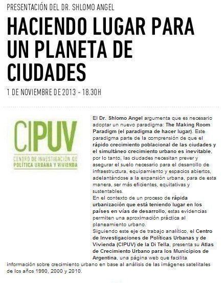 """ARQA - Seminario: """"Haciendo lugar para un planeta de ciudades"""", en la UTDT"""