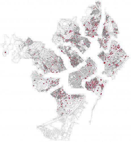 548 Plazas y 10 distritos de Barcelona