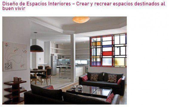 """Curso: """"Diseño de Espacios Interiores: Crear y recrear espacios destinados al buen vivir"""""""