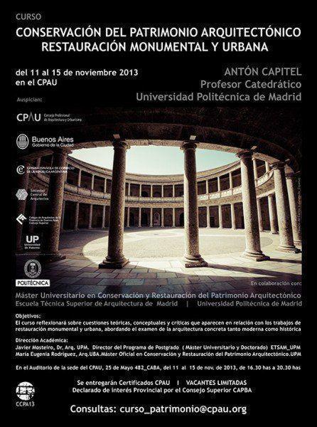 ARQA - Curso de conservación del Patrimonio Arquitectónico, Restauración Monumental y Urbana