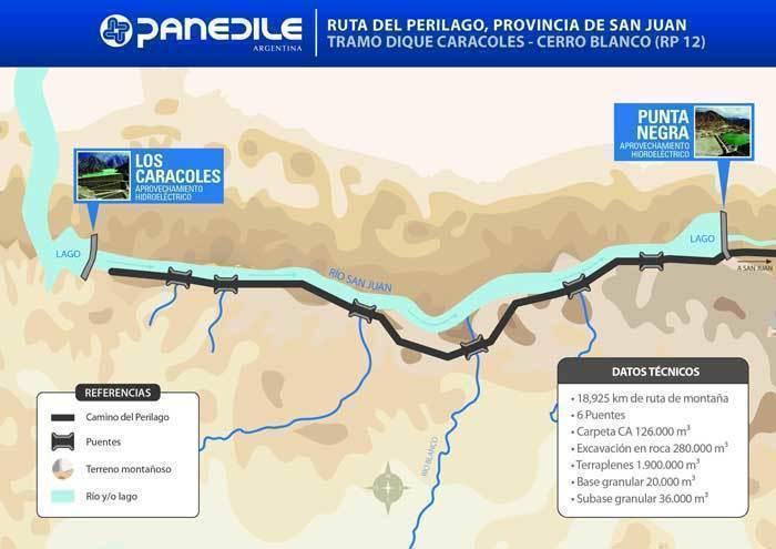ARQA - Panedile y Techint construirán el Camino del Perilago, en San Juan