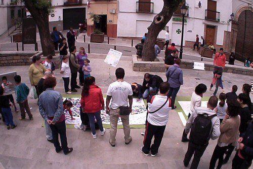 La Ciudad Viva. Elaborando #PlanoEmocional de #Jaén: #AcciónUrbana #positEA. Foto @estudioatope, mayo 2013