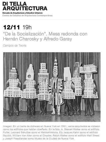 """ARQA - Mesa Redonda: """"DelaSocialización"""", con Hernán Charosky y Alfredo Garay en la UTDT"""